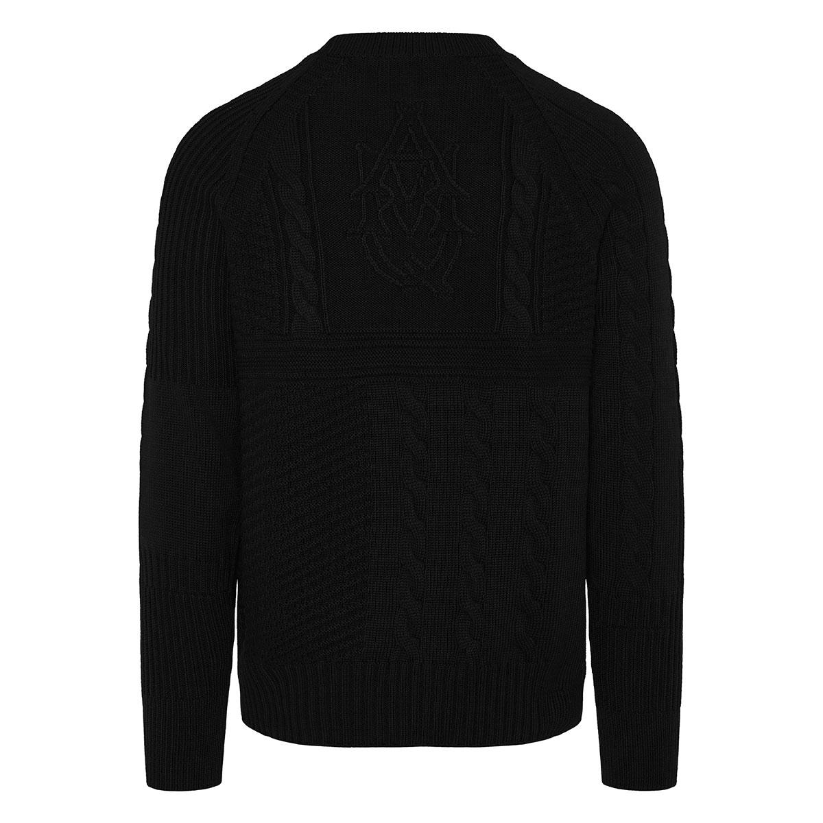 Textured skull sweater