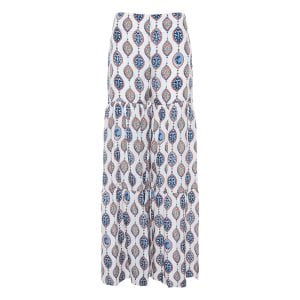 Ceramic print tiered palazzo trousers