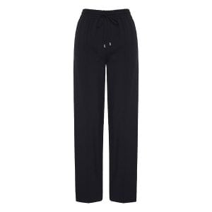 Wide-leg trousers with side logo bands