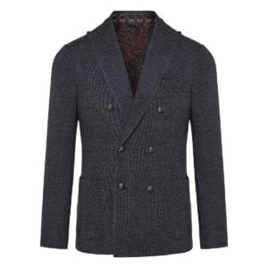 Double-breasted ribbed blazerDouble-breasted ribbed blazer
