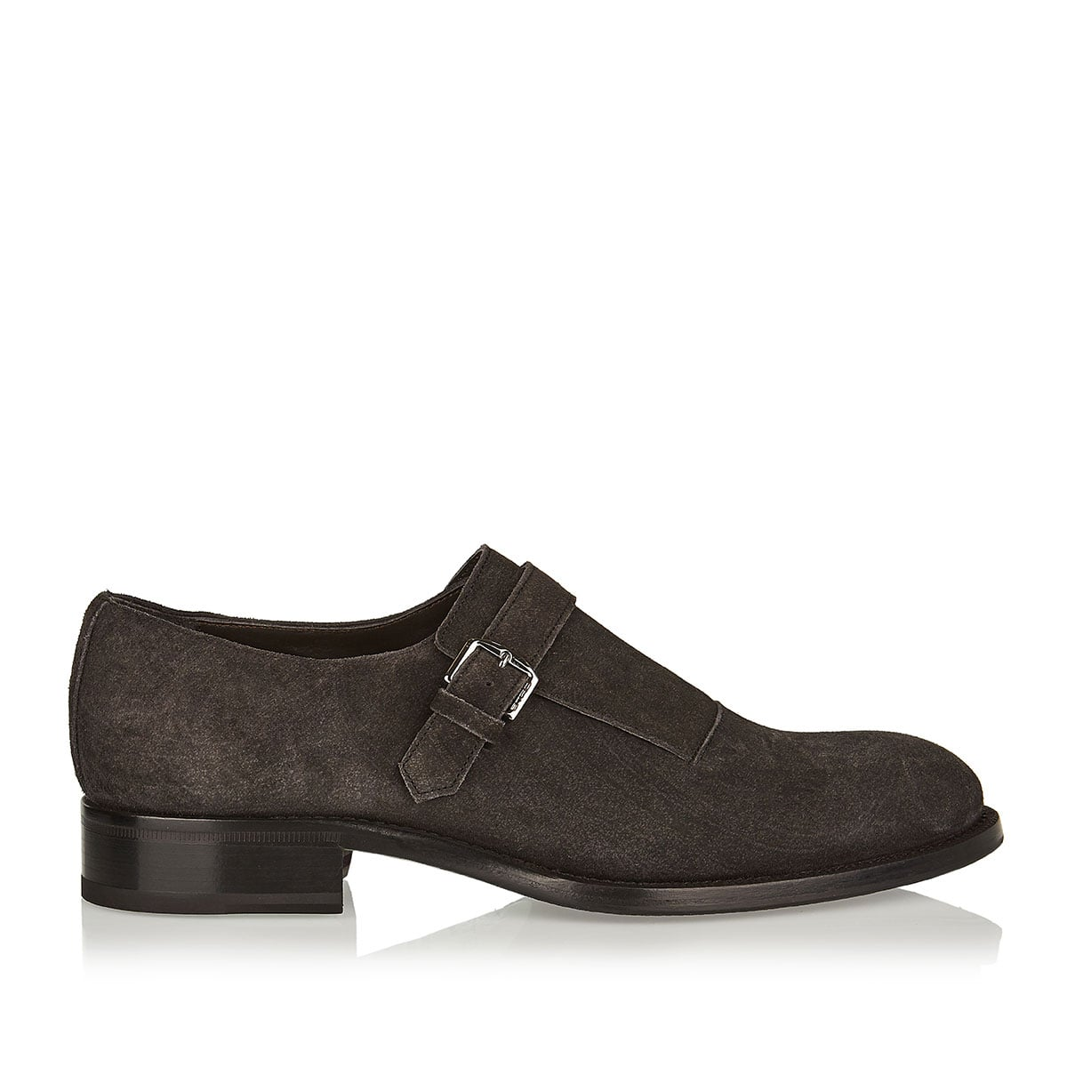 Paisley print suede shoes