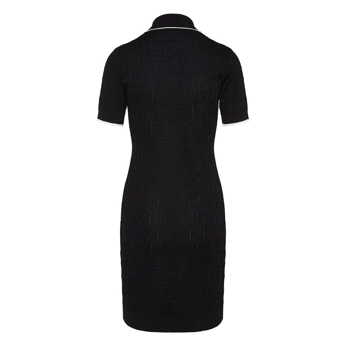 FF jacquard knitted dress
