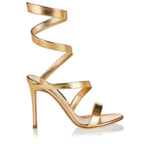 Opera 105 metallic-leather sandals