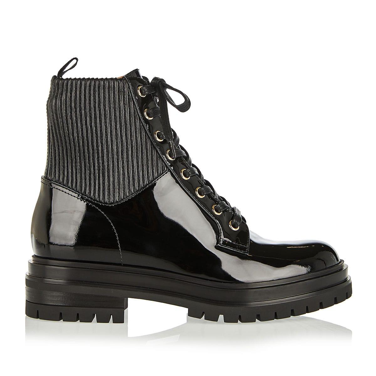Martis 20 lace-up patent boots