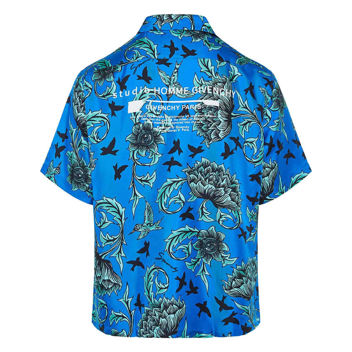 Logo floral Hawaiian shirt