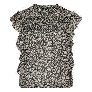 Layona printed frilled top