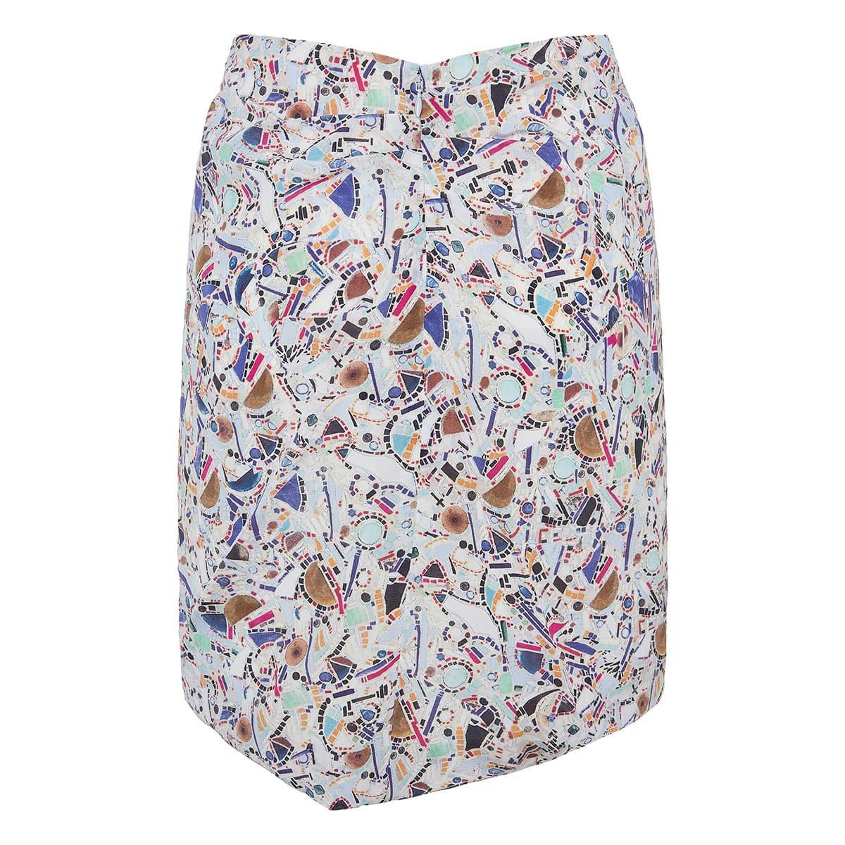 Renzia draped printed mini skirt