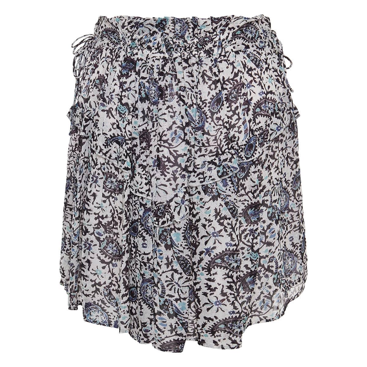 Paisley pleated mini skirt