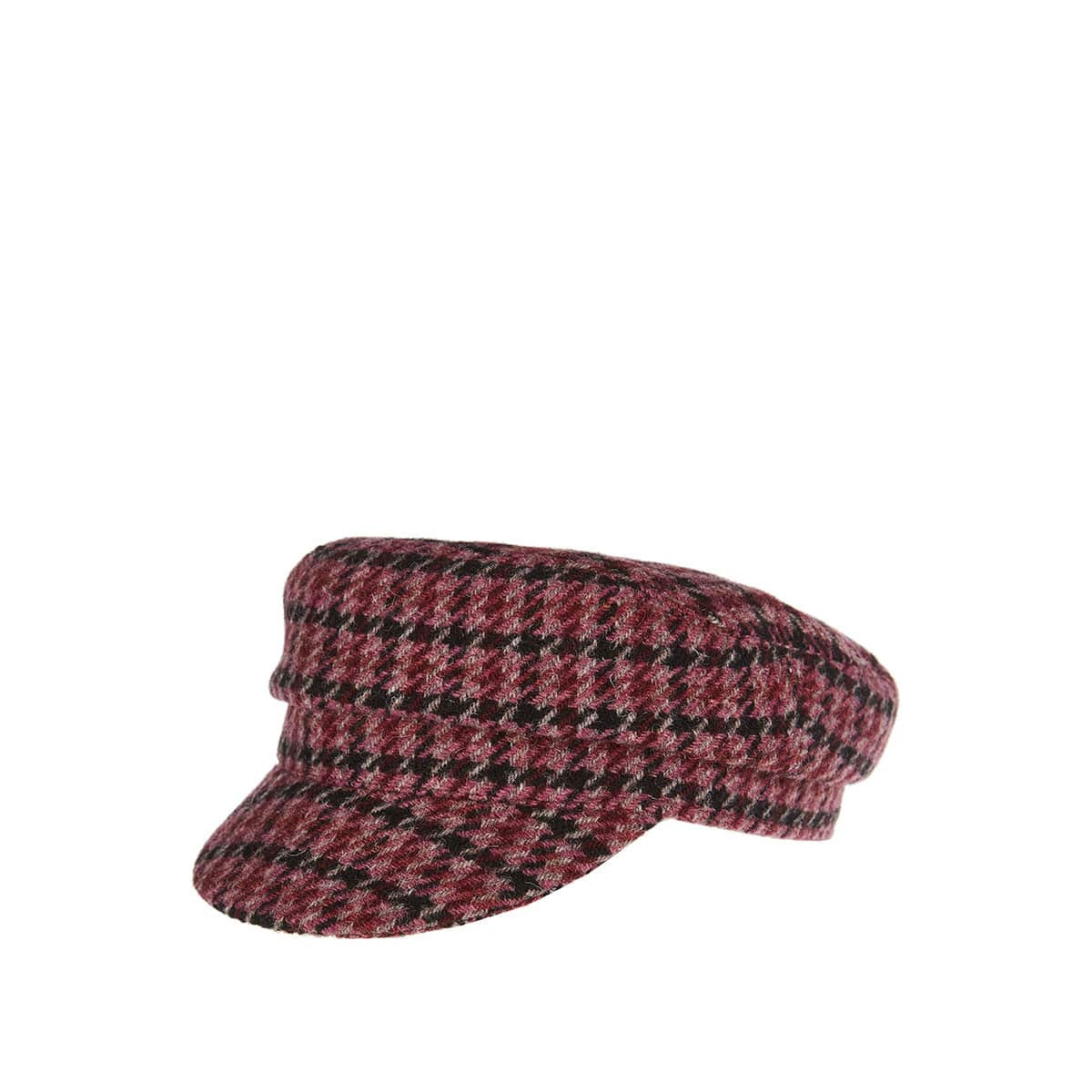 Evie houndstooth cap