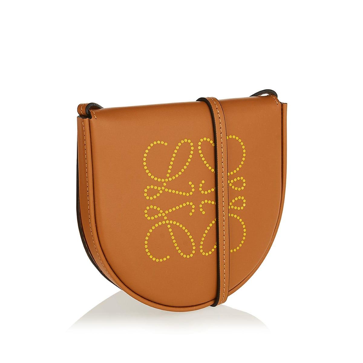 Heel small Anagram crossbody pouch