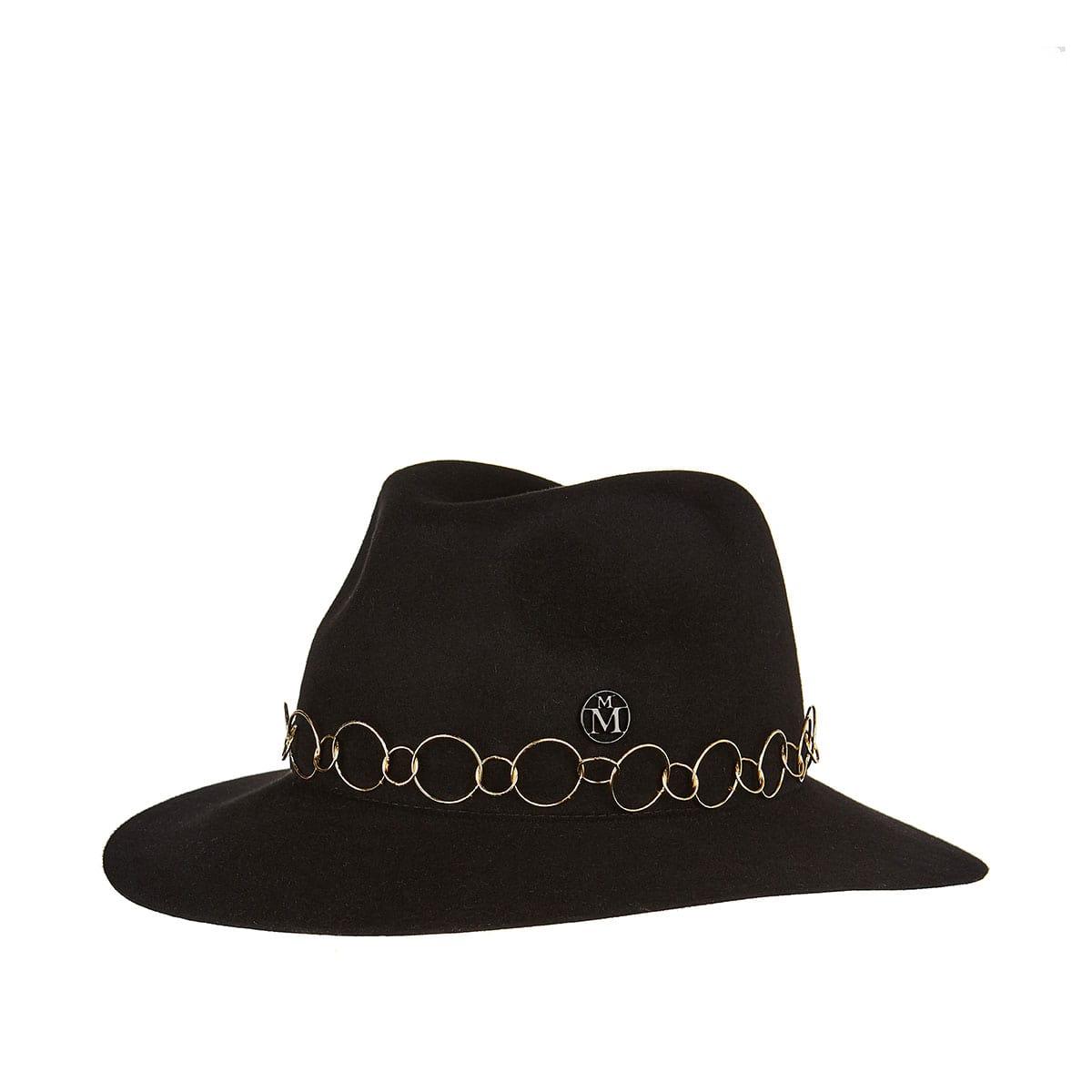 Henrietta chain-embellished felt hat