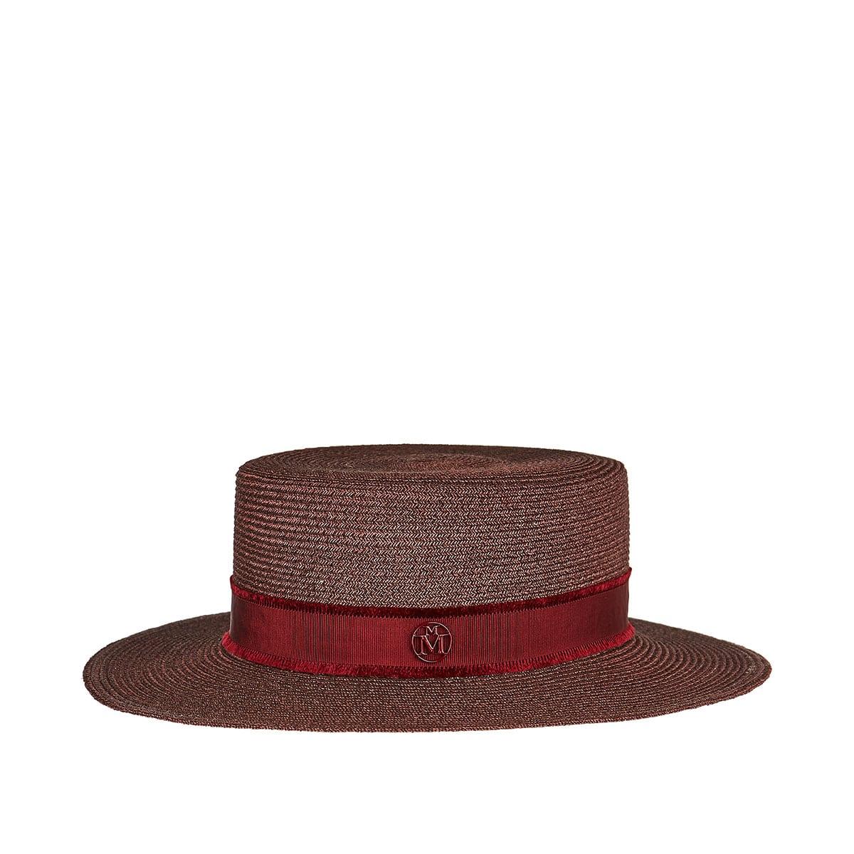 Kiki woven canotier hat