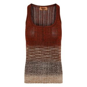 Ribbed-knit tank top