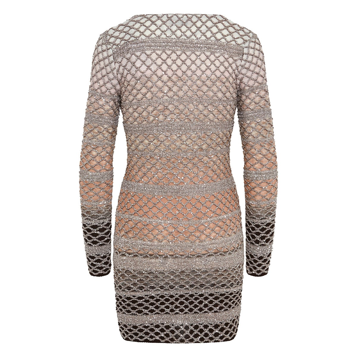 Sequin lurex-knitted mini dress