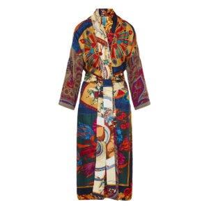 One-of-a-kind patchwork silk kimono
