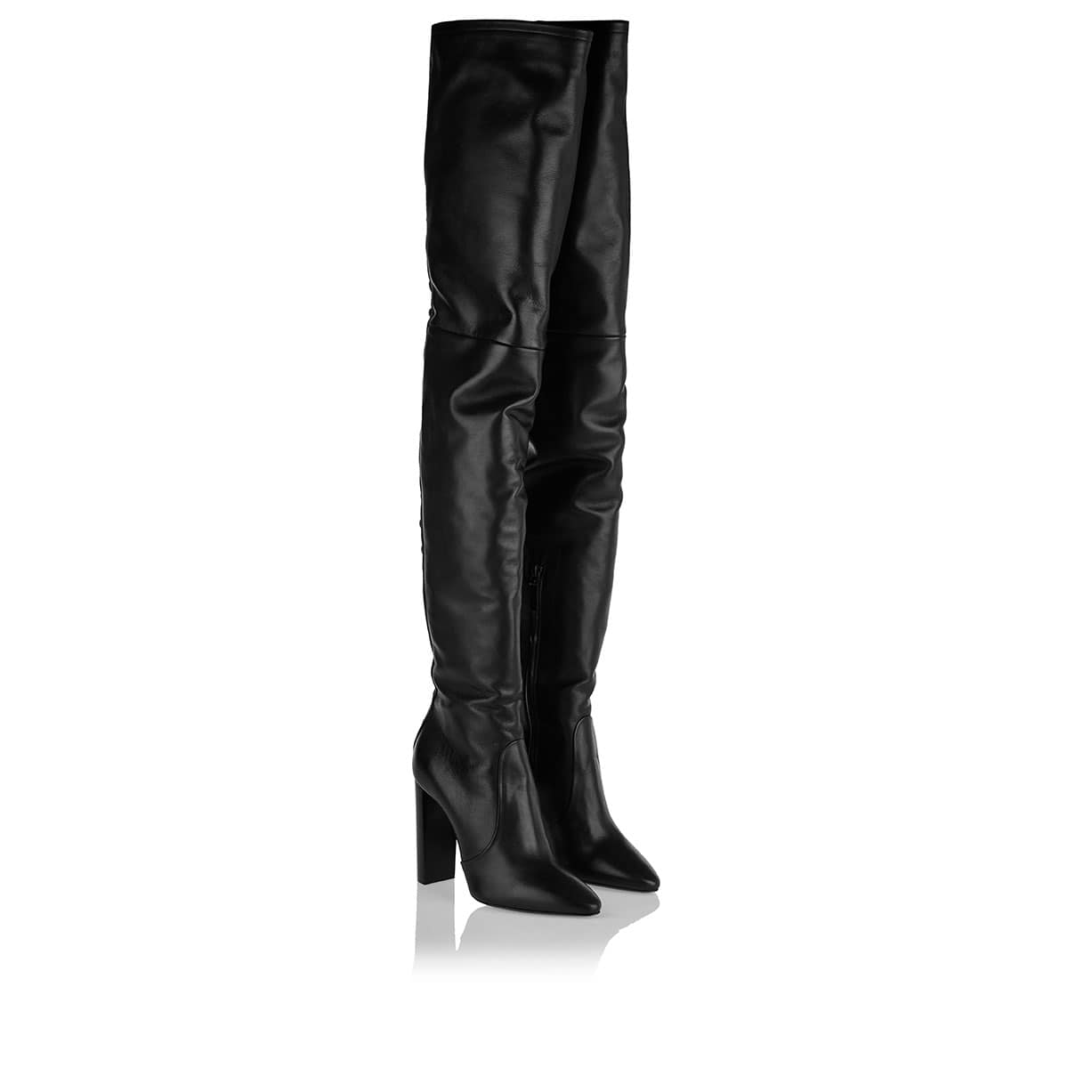 76 thigh-high laced boots