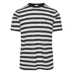 Striped wool-jersey t-shirt