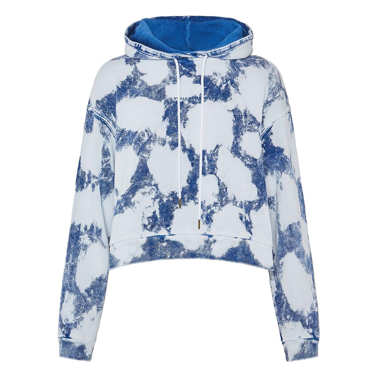 Tie-dye logo cropped hoodie
