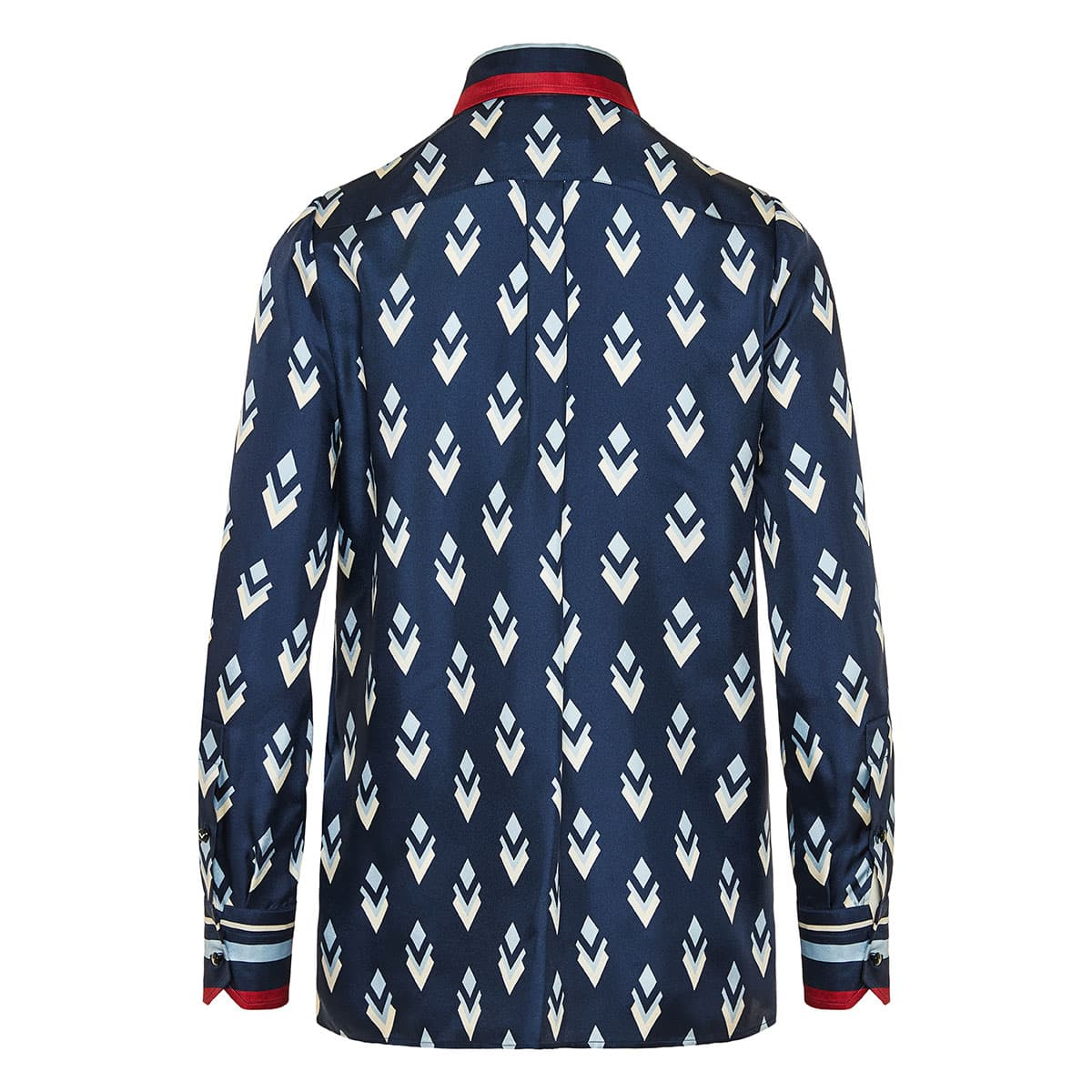 Bow-tie printed twill shirt