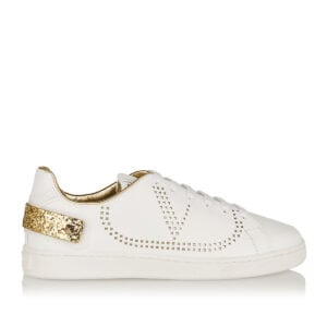 BACKNET glitter-paneled logo sneakers