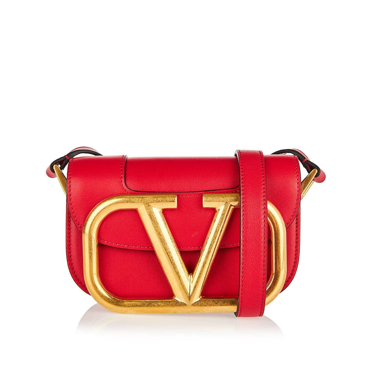 Supervee mini leather bag