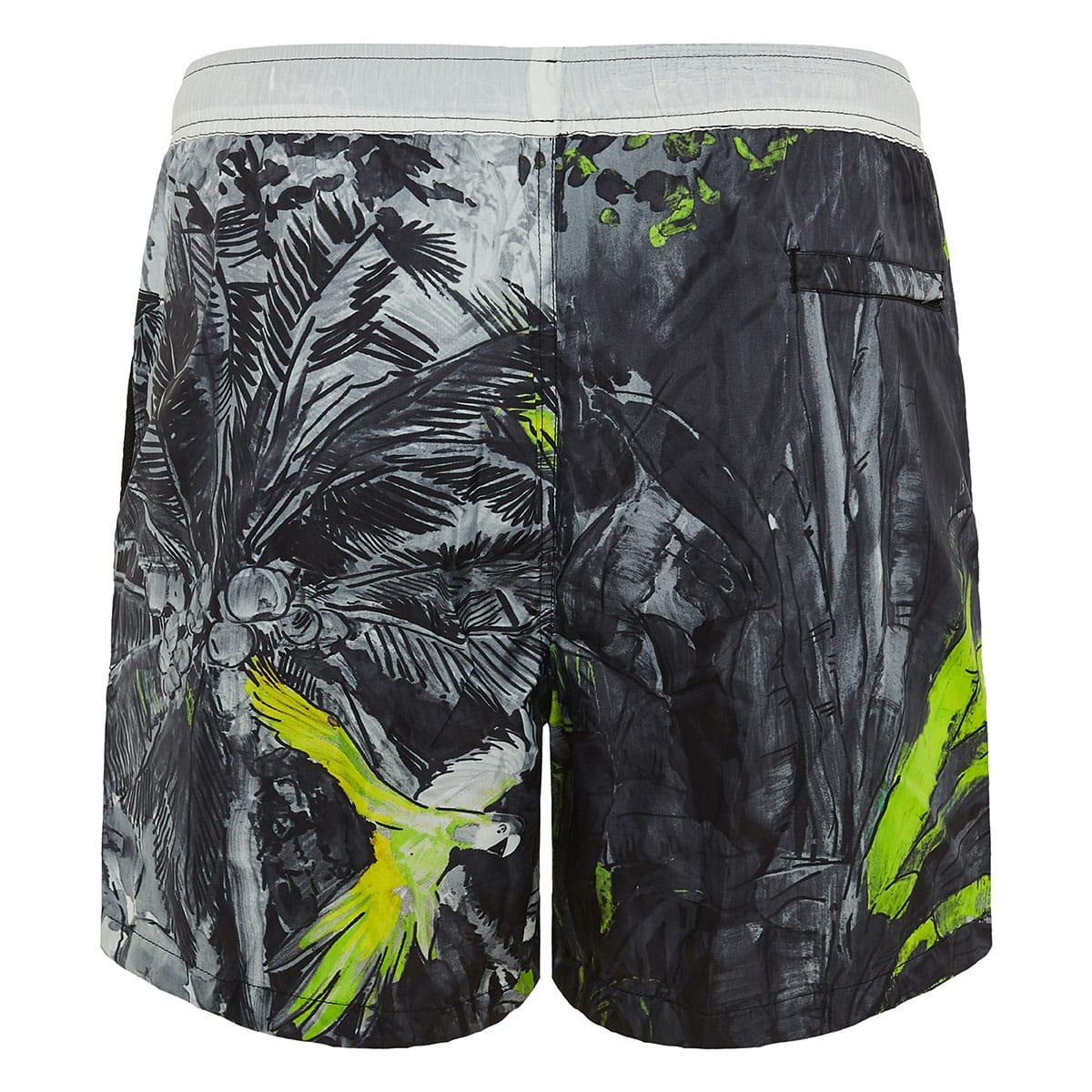 Mural Jungle printed swim shorts
