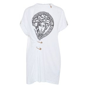 Pin-embellished Medusa t-shirt