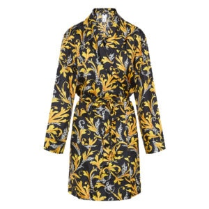 Baroque print robe dress