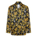 Baroque print pajama shirt