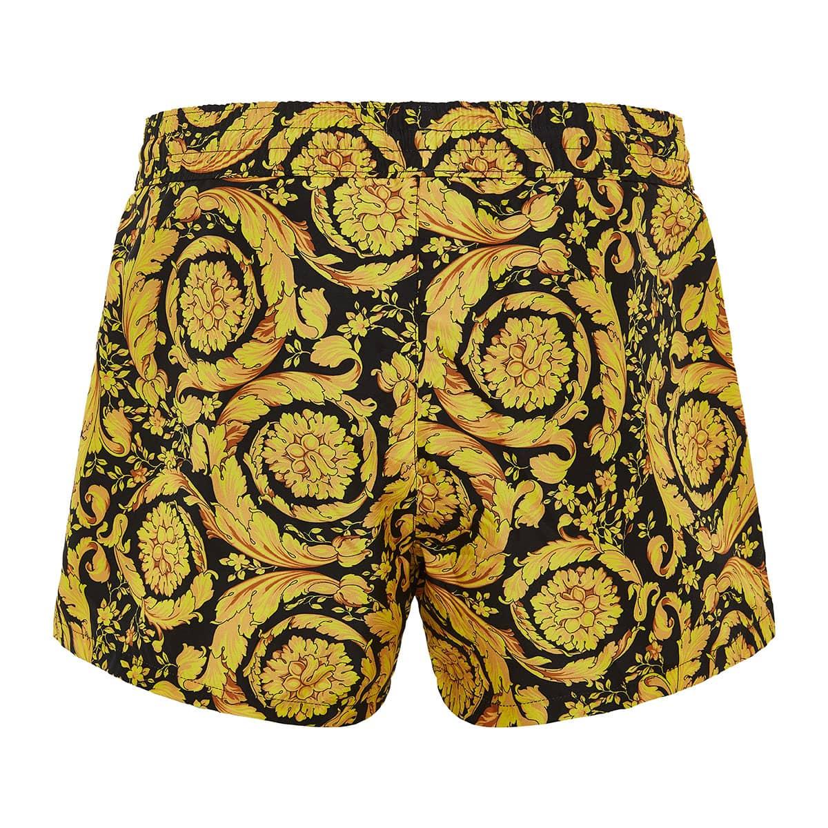 Baroque print short swim shorts