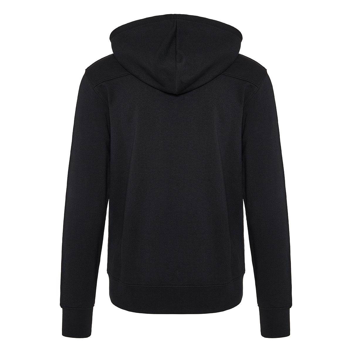 Skull patch zipper hoodie