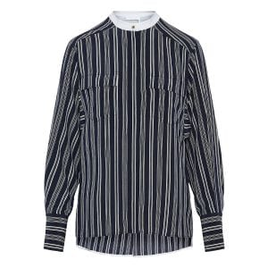 Striped crepe shirt