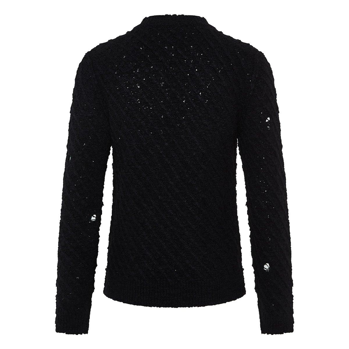 Ripped wool sweater