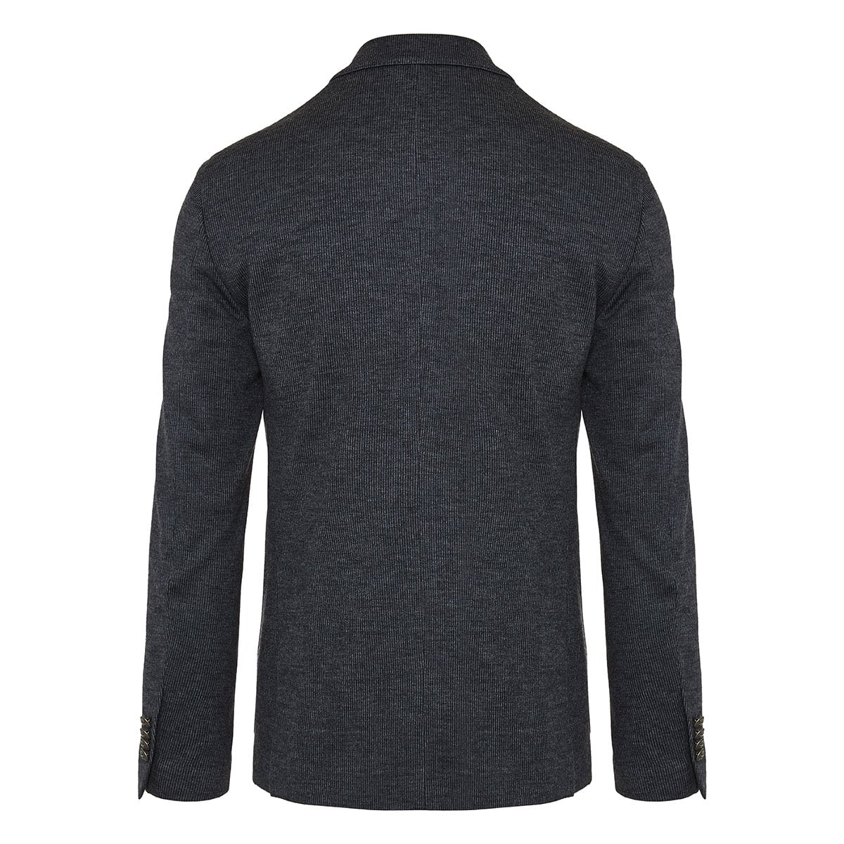 Double-breasted ribbed blazer