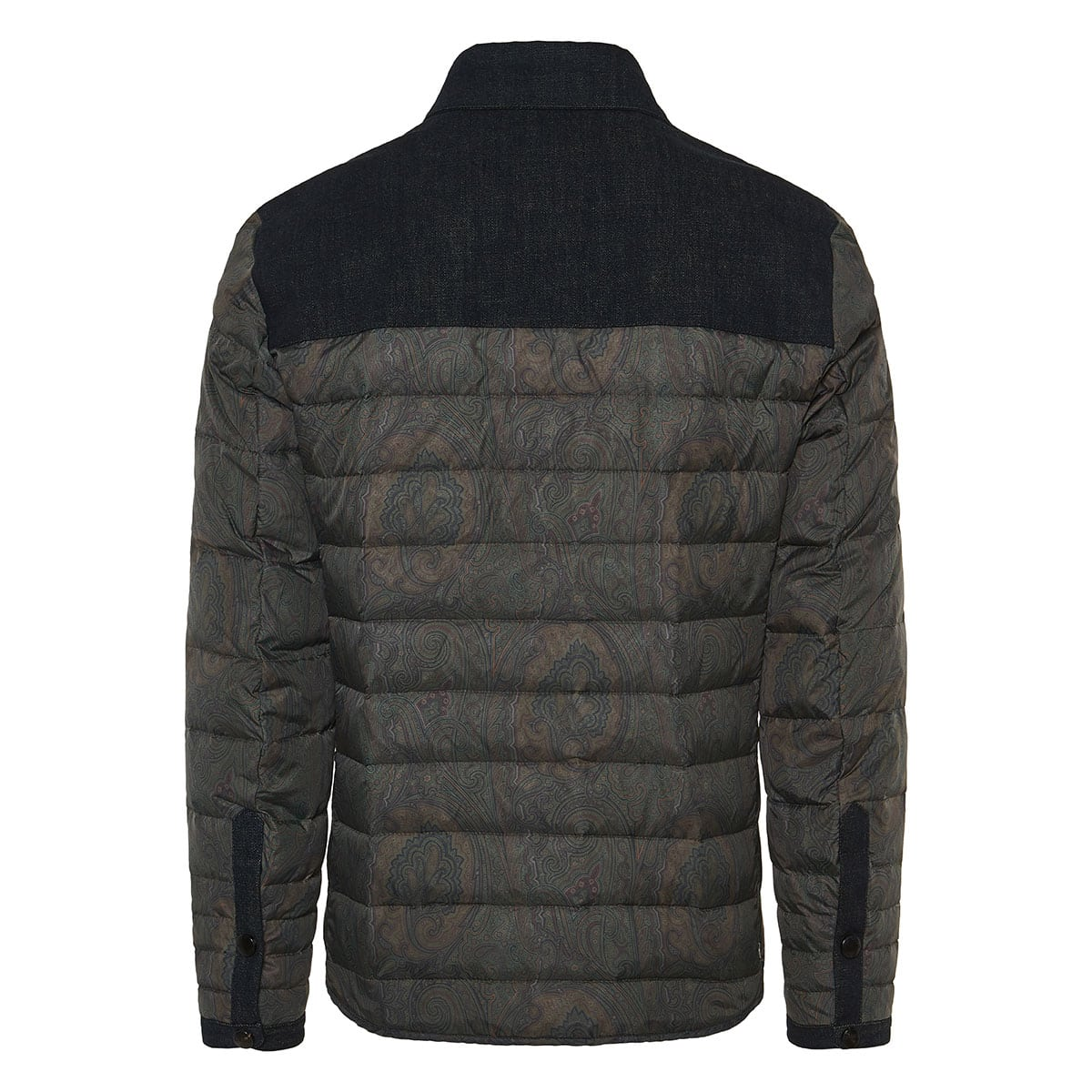 Paisley quilted puffer jacket