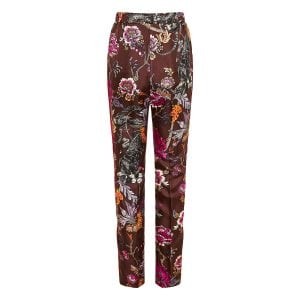Floral silk pajama trousers