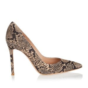 Gianvito 85 snake-print pumps