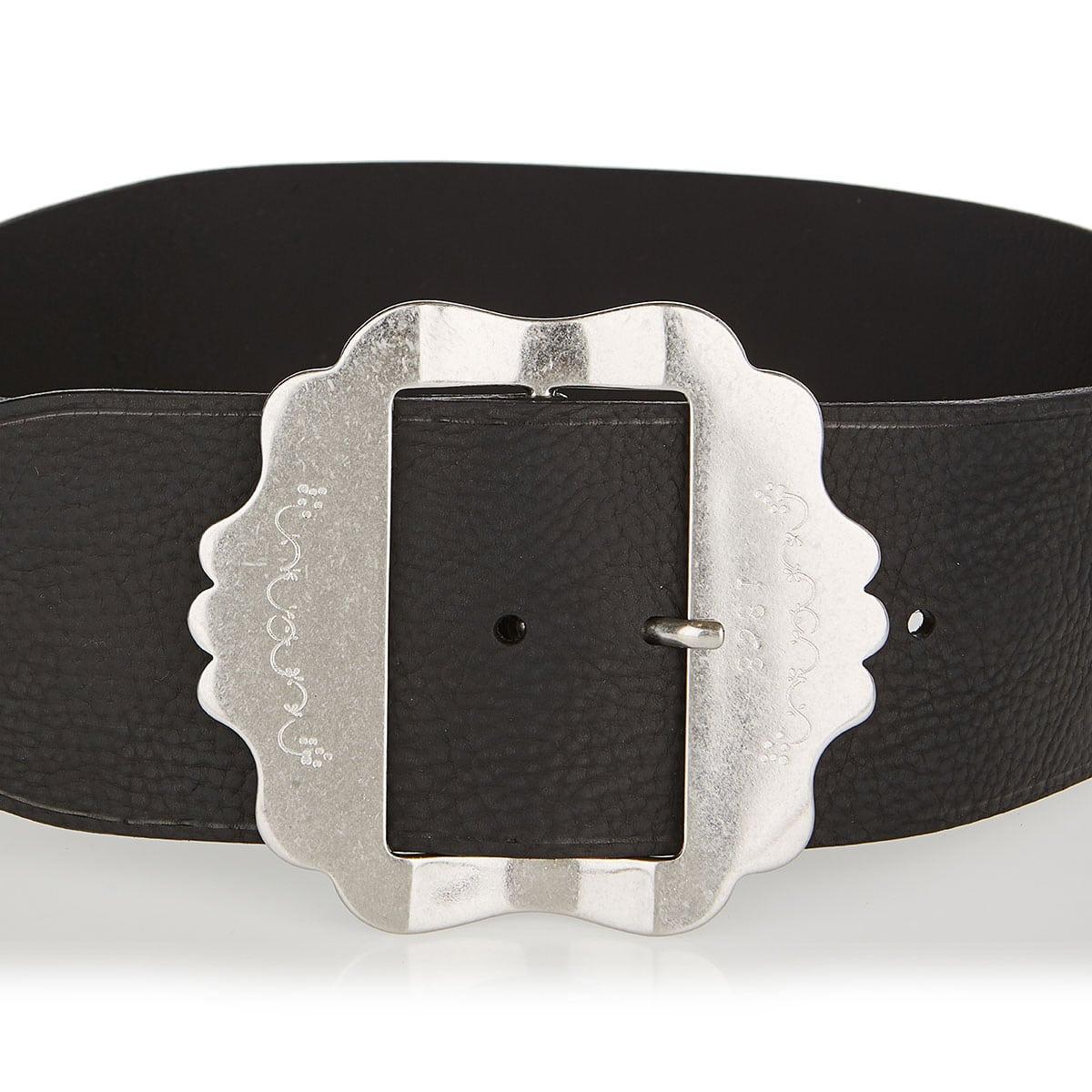 Awele wide leather belt