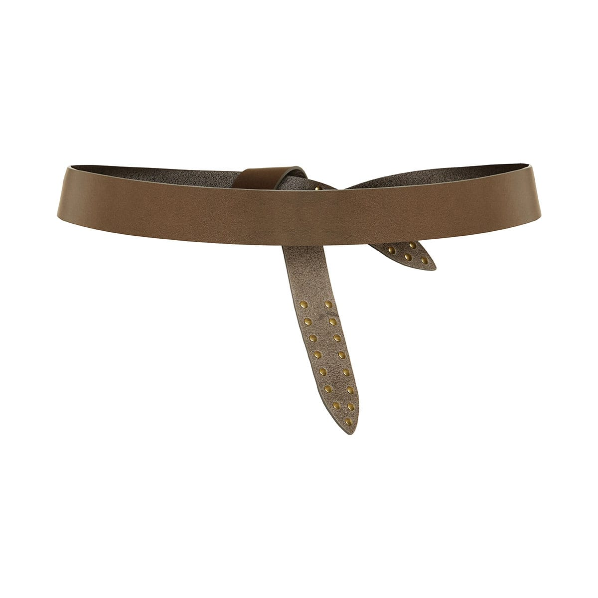 Stud-embellished knotted belt