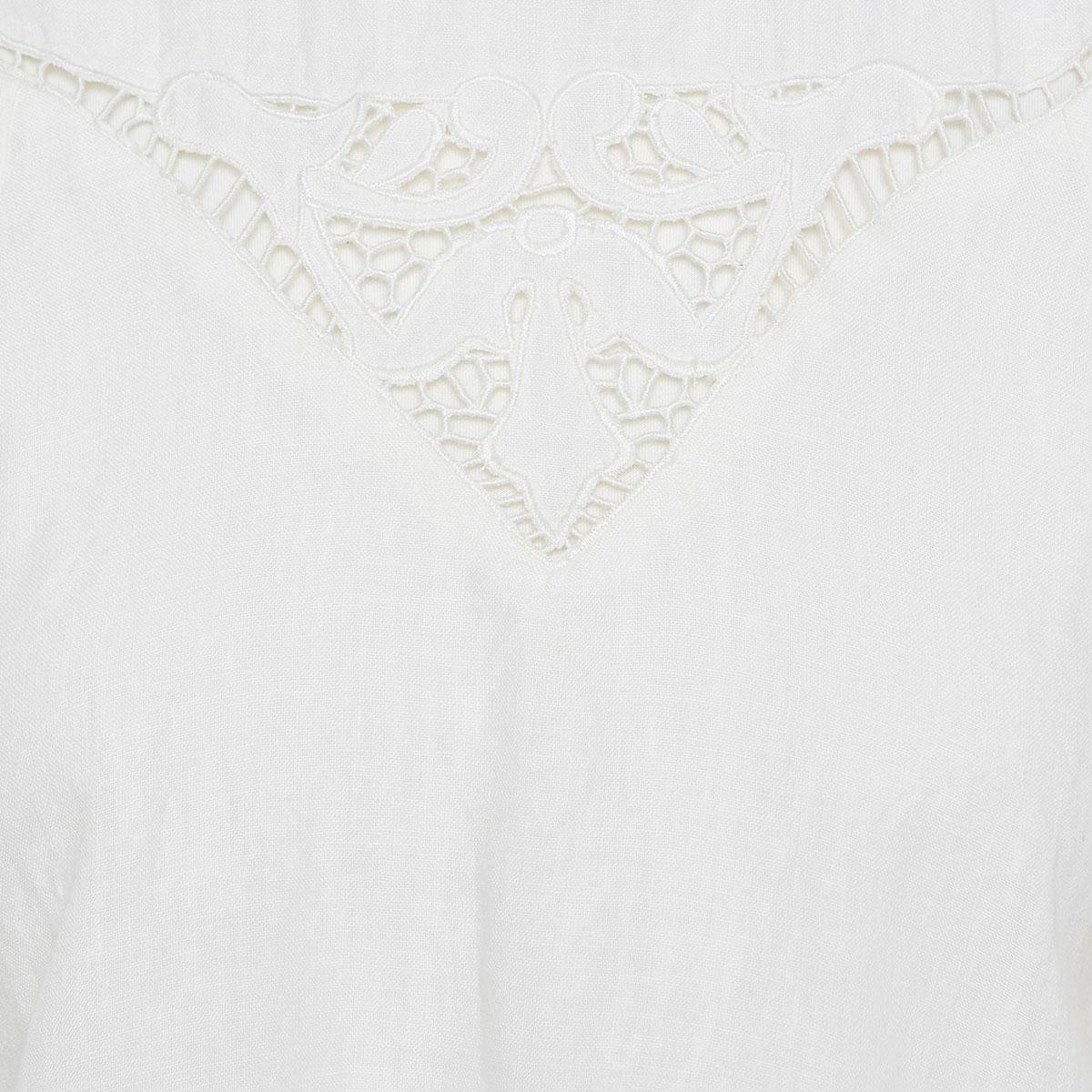 Emmett lace-detailed linen blouse