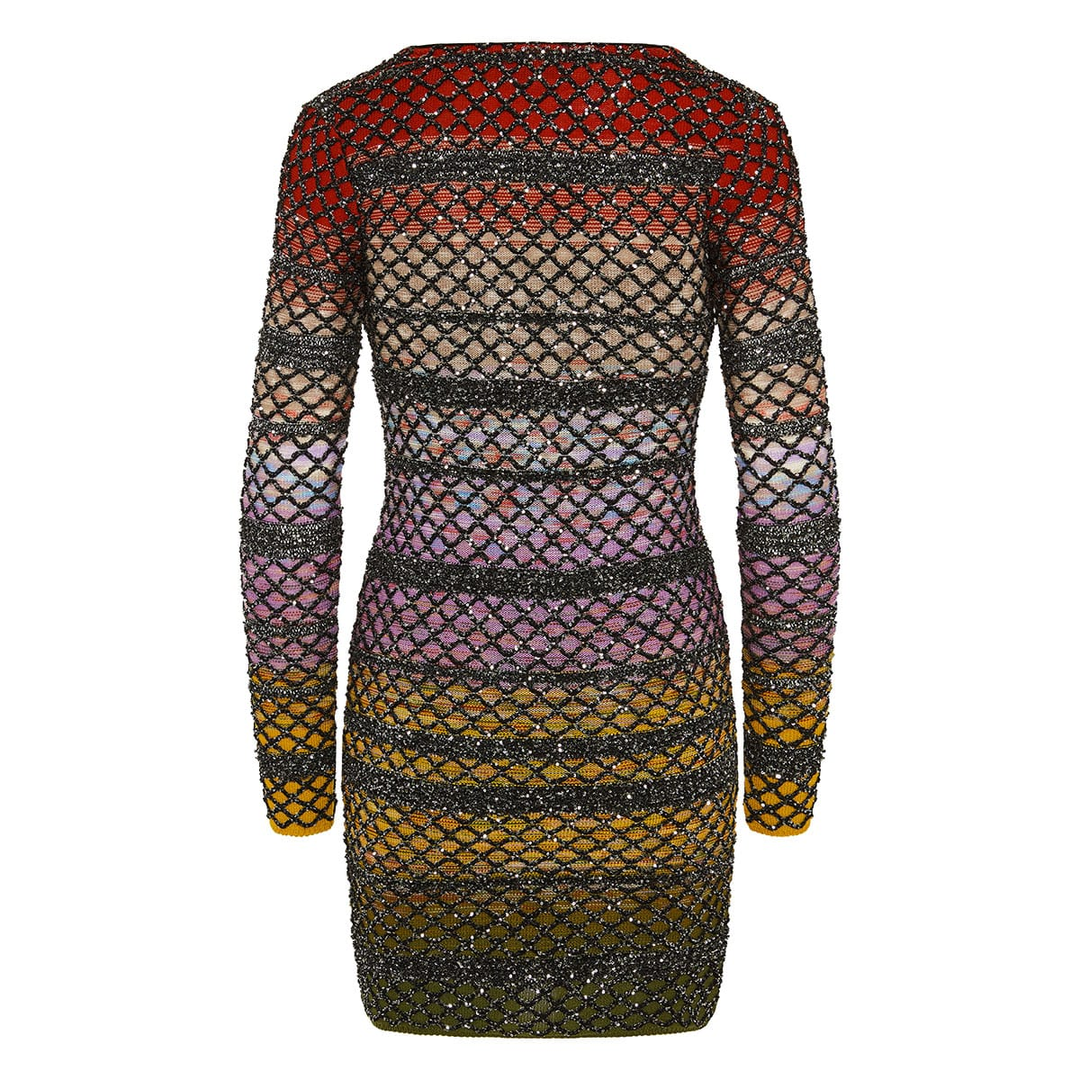Sequin lurex knitted mini dress