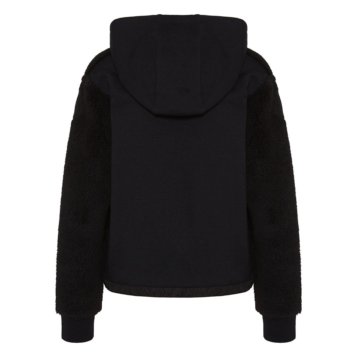 Shearling hoodie jacket