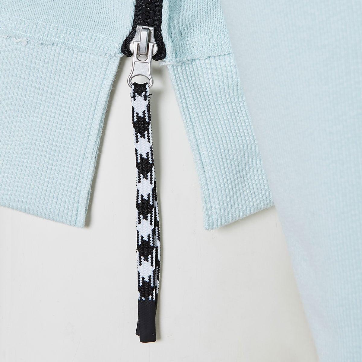 Sweatshirt with side zippers