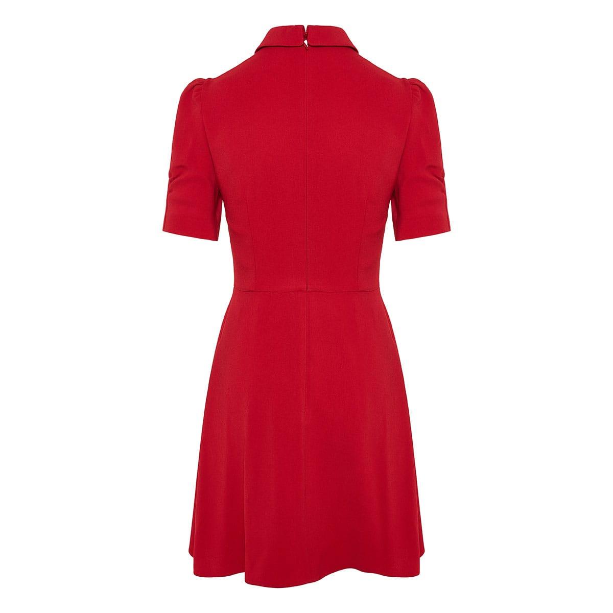 Puff-sleeved mini dress