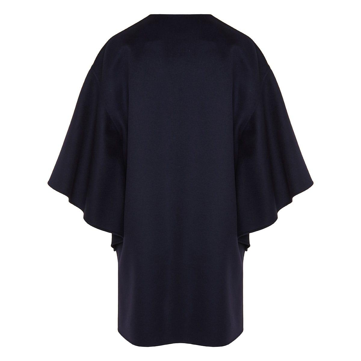 Flared wool cape
