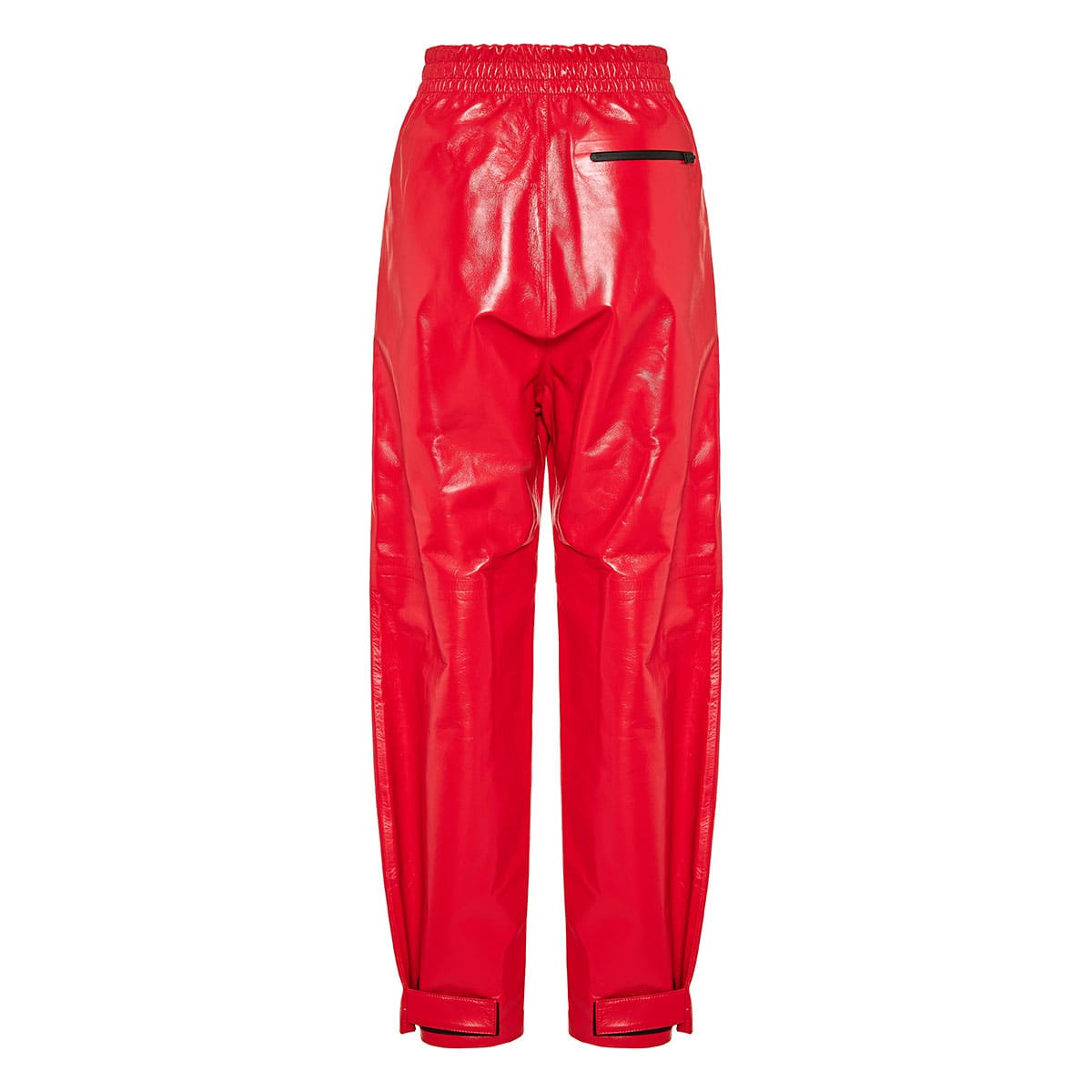 Loose leather trousers