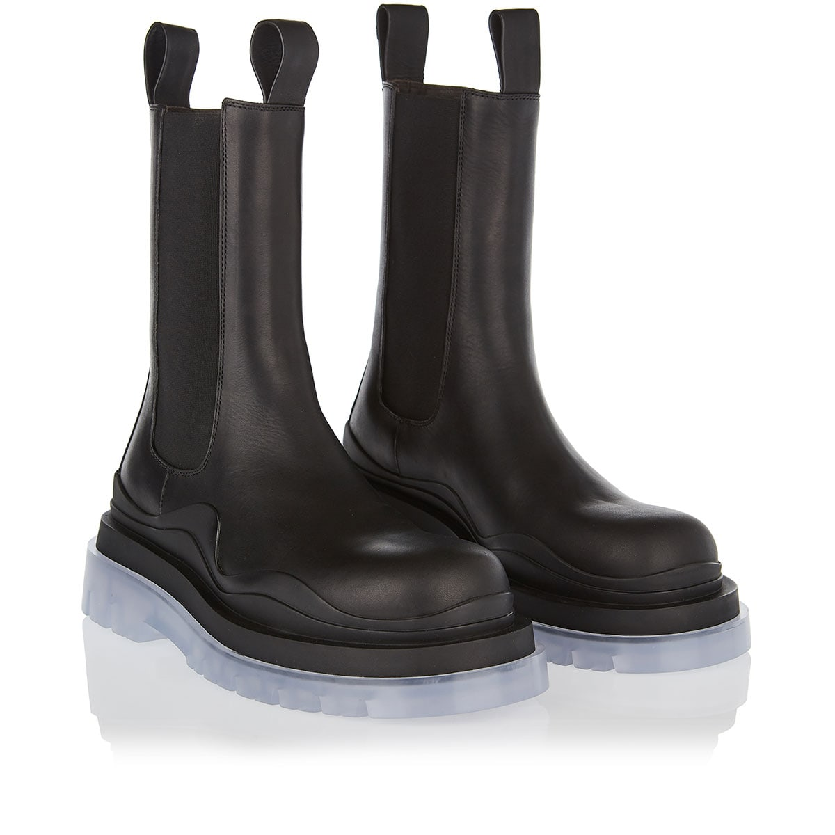BV Tire chunky leather boots