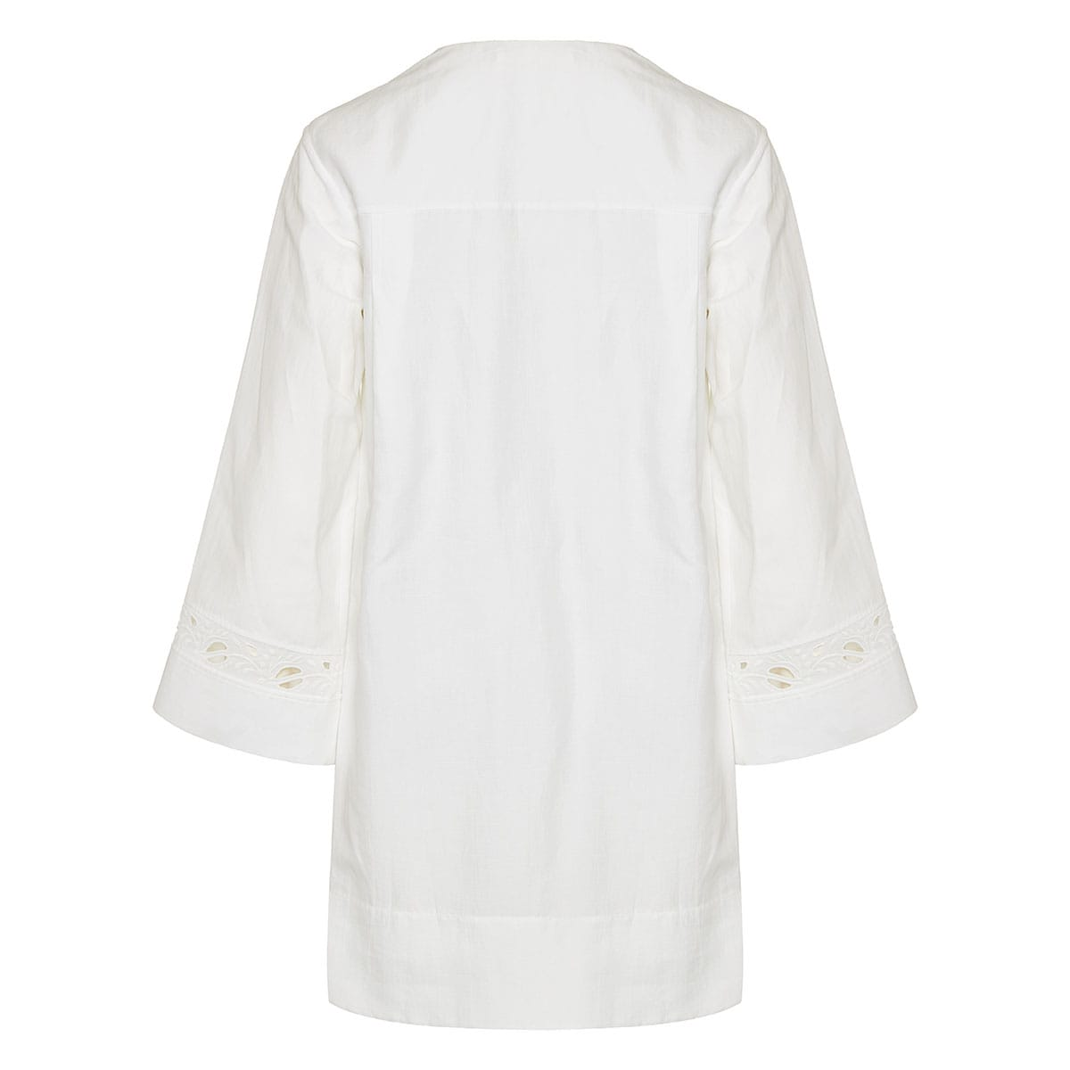 Embroidered linen kaftan dress