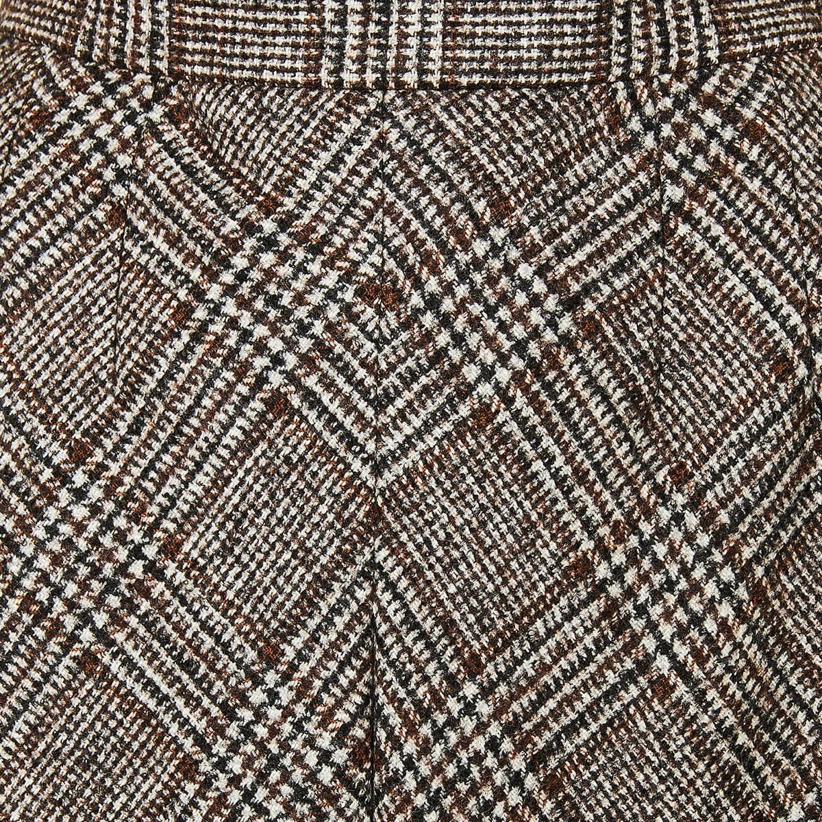 Prince of Wales wool midi skirt