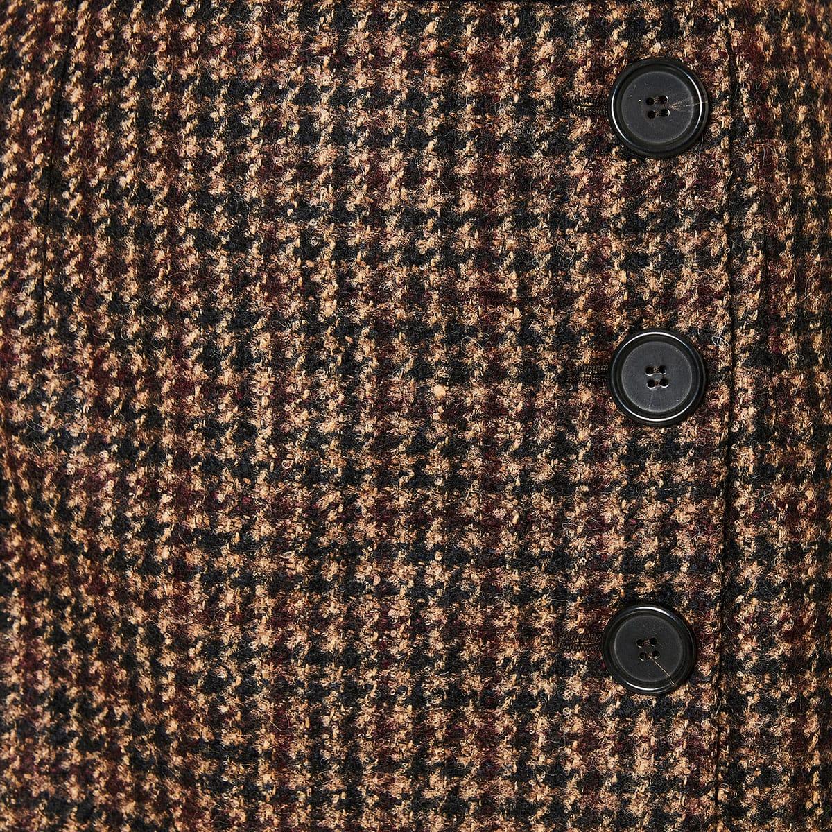 Houndstooth tweed mini skirt
